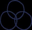 3 connecting circles