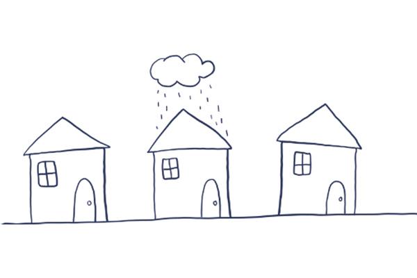 Houses Raining