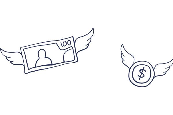 flying money_